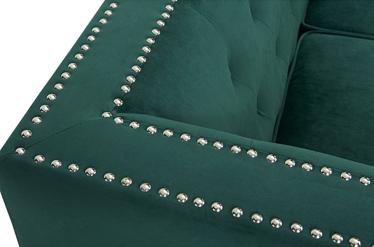Mark Harris New England Green Velvet 2 Seater Sofa