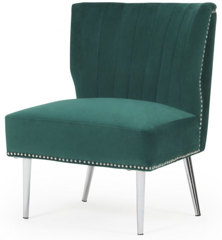 Mark Harris Lara Green Velvet Accent Chair