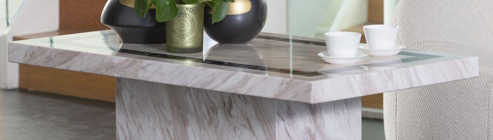 Urban Deco Rome Cream Marble Coffee Table