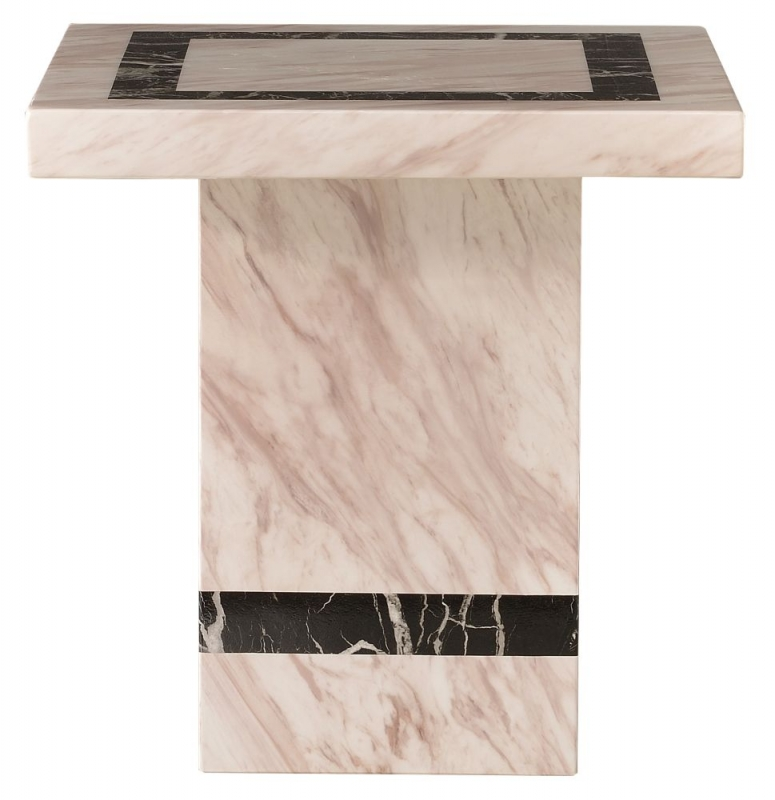 Urban Deco Rome Beige Marble Lamp Table