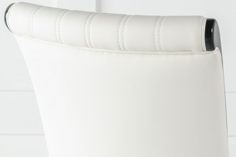 Cadiz White Faux Leather Dining Chair