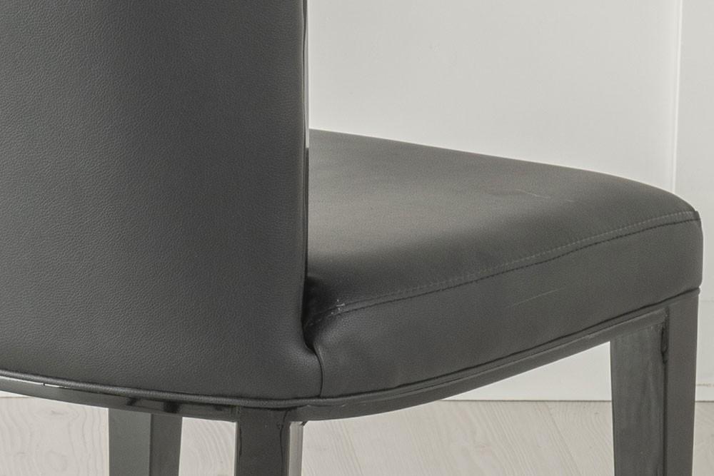 Urban Deco Cadiz Black Faux Leather Dining Chair
