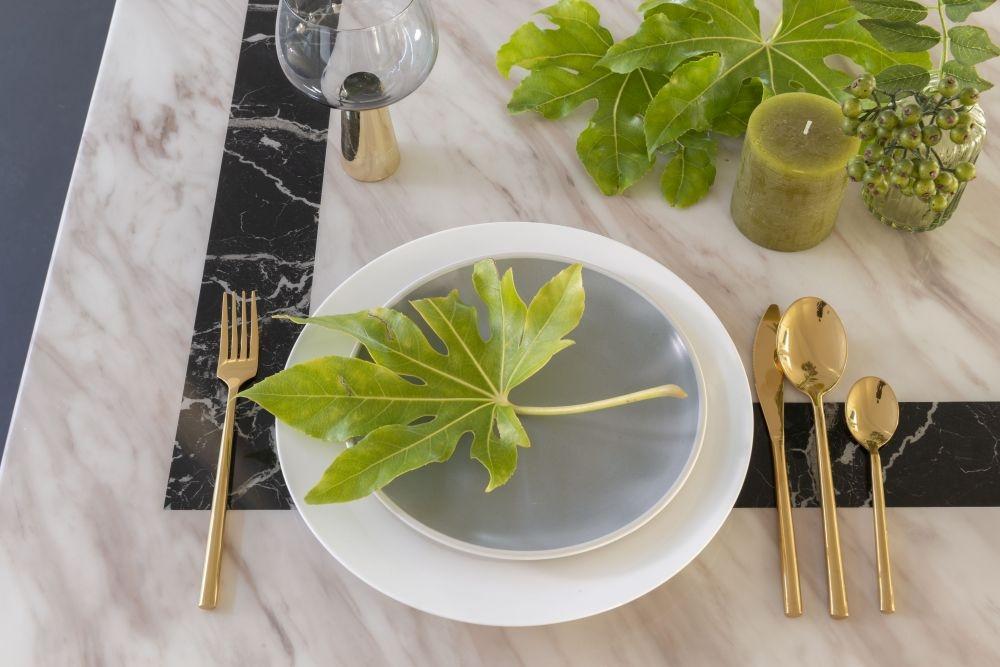 Urban Deco Rome Cream Marble 160cm Rectangular Dining Set with Madrid Grey Chairs