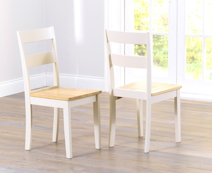 Mark Harris Chichester Oak and Cream Large Dining Table with 4 Chairs and Bench