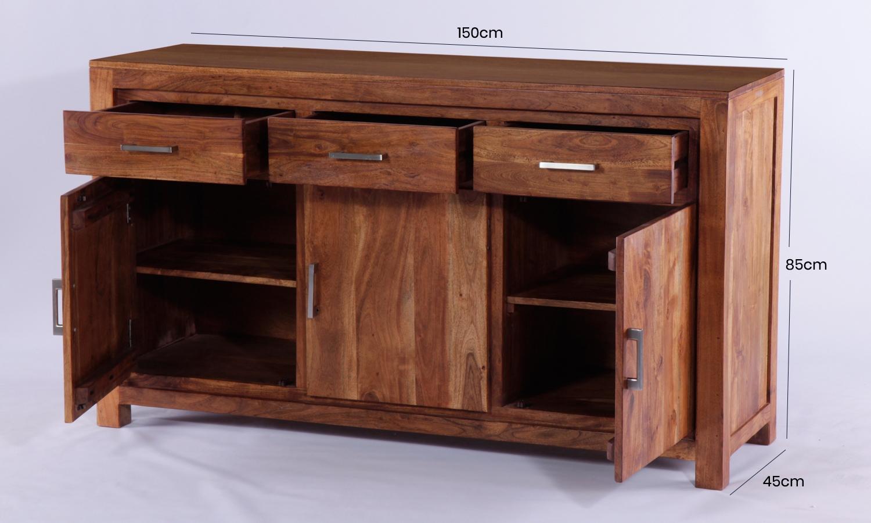 Java Acacia 3 Door 3 Drawer Sideboard