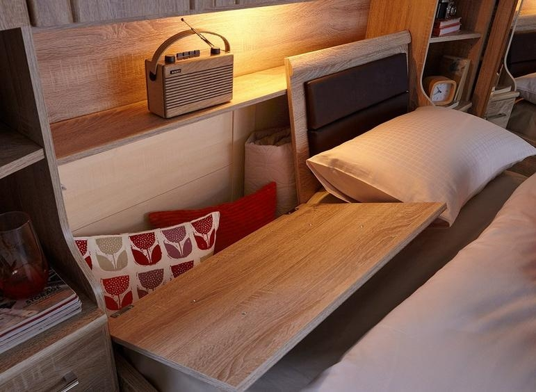 Wiemann Luxor 3+4 Overbed Unit with 50cm Occasional Element and 160cm Bed in Rustic Oak - W 270