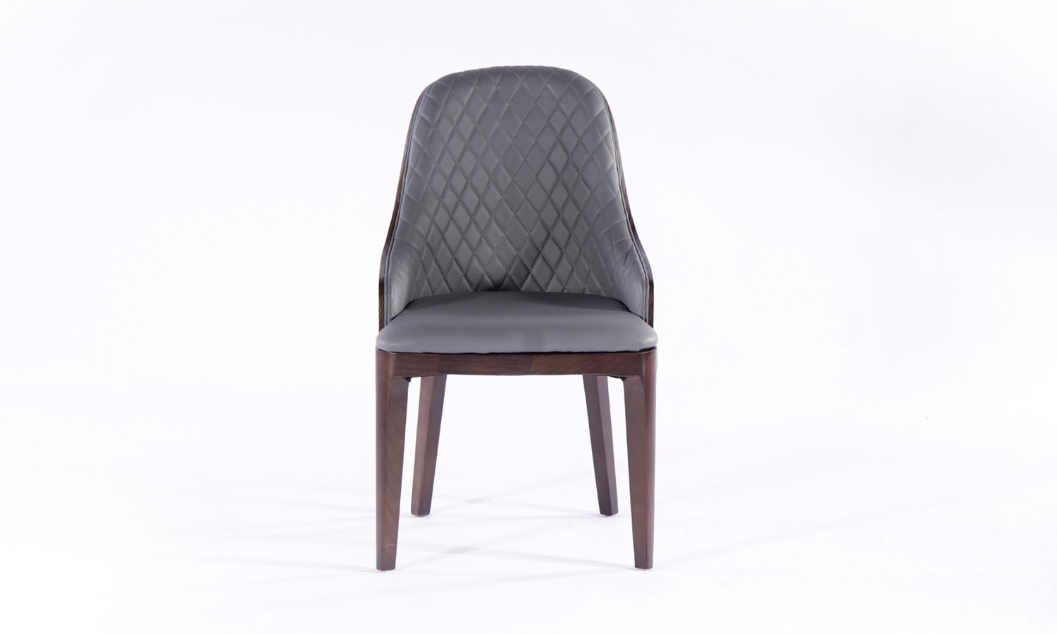 6 x Urban Deco Madrid Grey Faux Leather Dining Chair