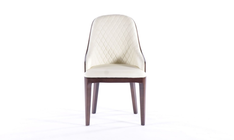 6 x Urban Deco Madrid Beige Faux Leather Dining Chair