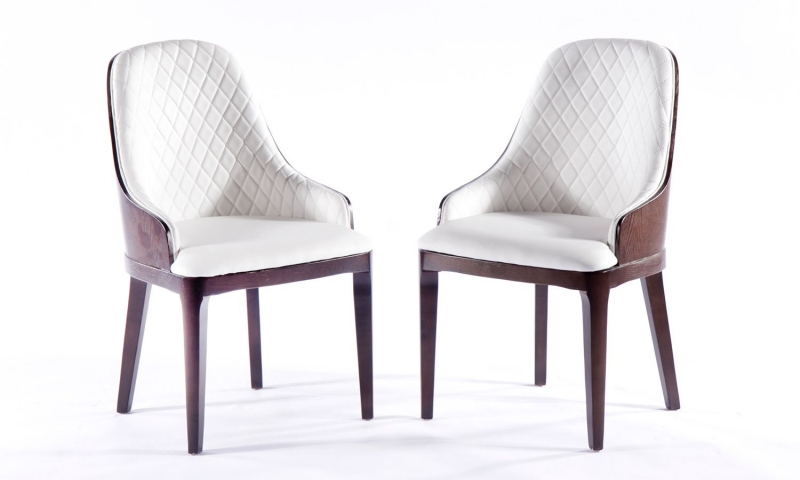 4 x Urban Deco Madrid White Faux Leather Dining Chair
