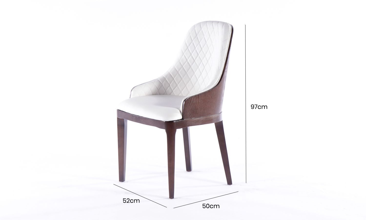 6 x Urban Deco Madrid White Faux Leather Dining Chair