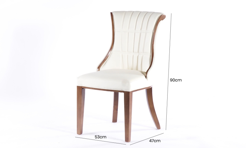 4 x Urban Deco Seville Beige Faux Leather Dining Chair