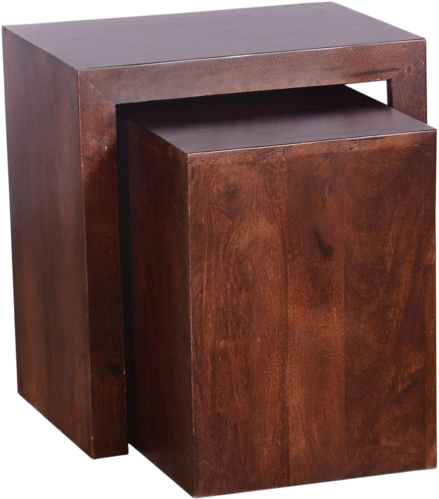 Urban Deco Dakota Dark Mango Nest of Tables