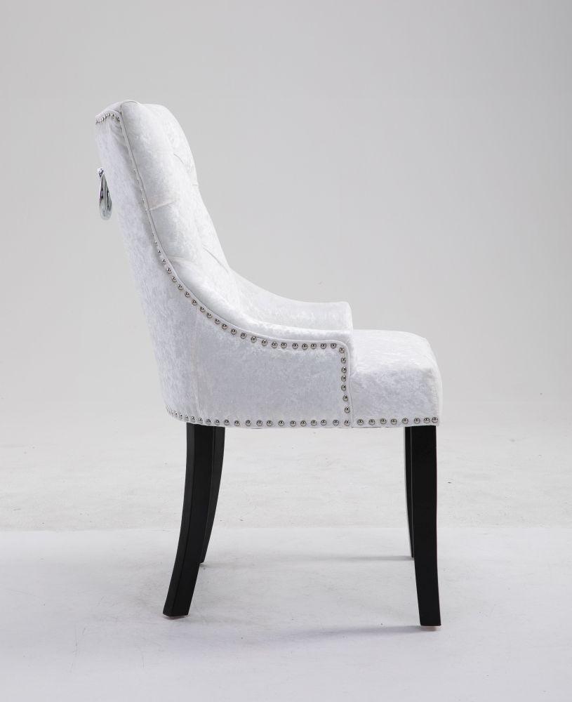 6 x Mink Crushed Velvet Knockerback Dining Chair