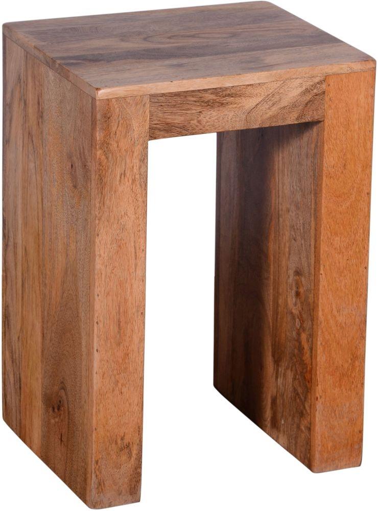 Urban Deco Dakota Light Mango Rustic U Lamp Table