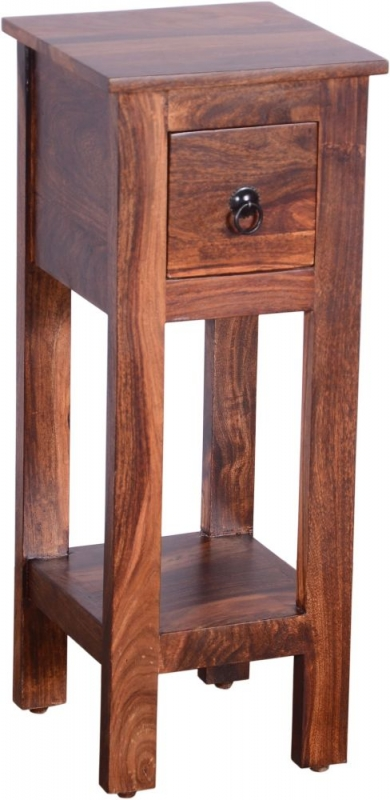 Urban Deco Ganga Sheesham 1 Drawer Telephone Table