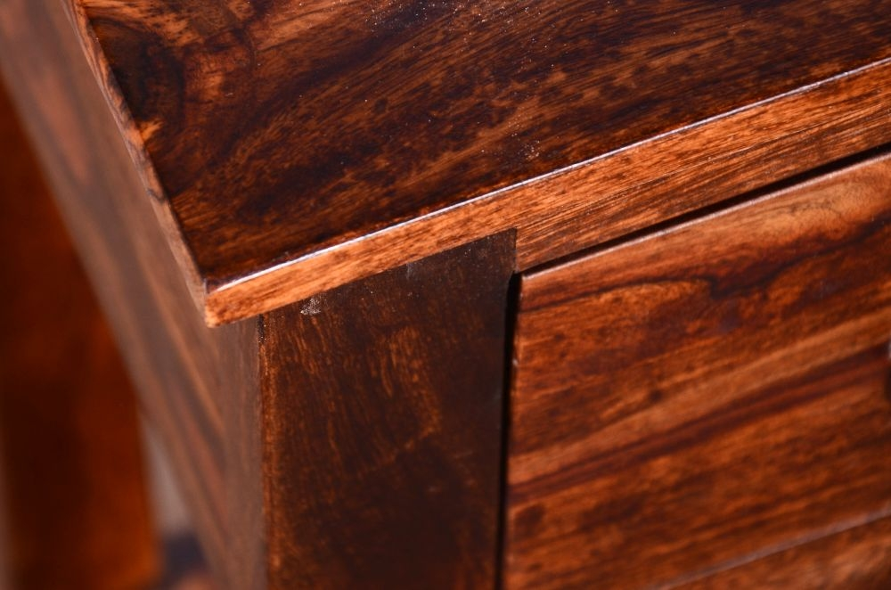 Urban Deco Ganga Sheesham 2 Drawer Narrow Console Table