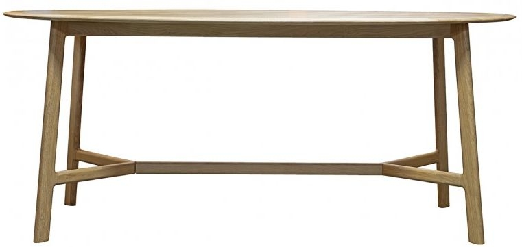 Gallery Madrid Oak Oval Dining Table