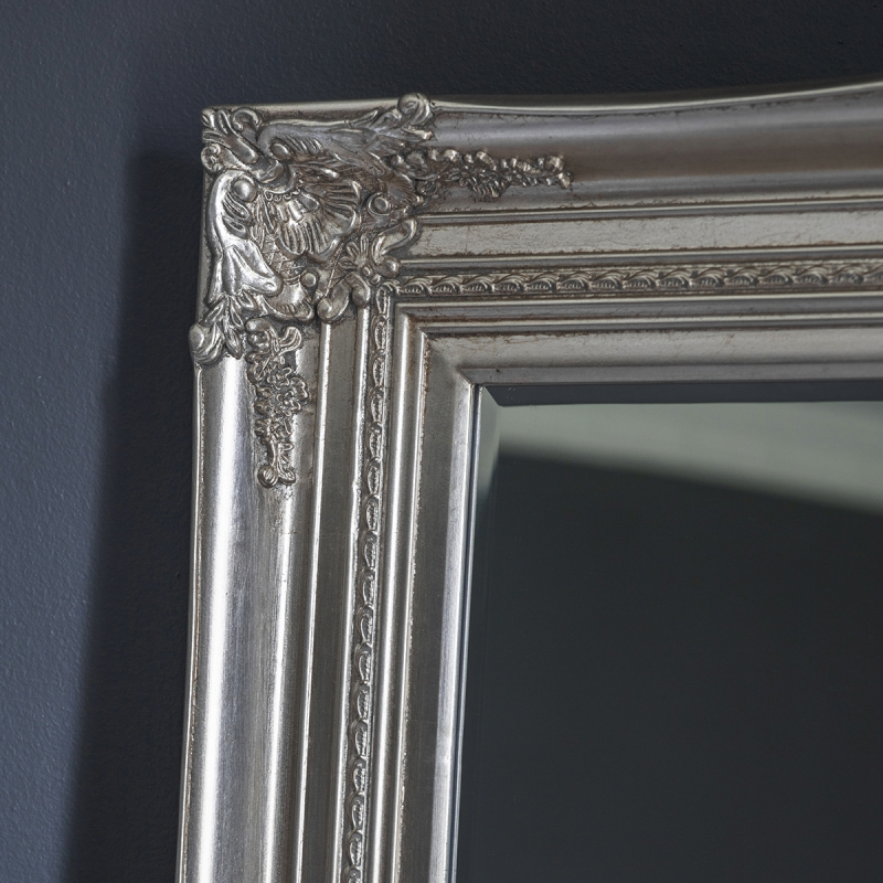 Gallery Direct Harrow Bright Silver Rectangular Mirror - 85cm x 117cm