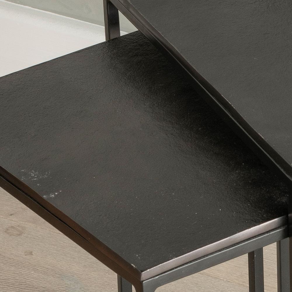 Urban Deco Apex Black Metal Nest of Tables