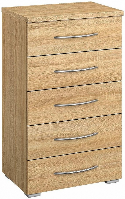 Rauch Kent Plus 5 Drawer Chest in Wooden Front - W 72cm