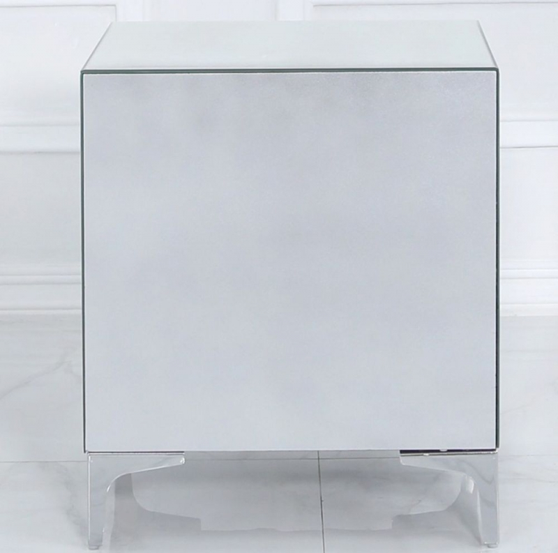 Colorado Mirrored 3 Drawer Bedside Cabinet