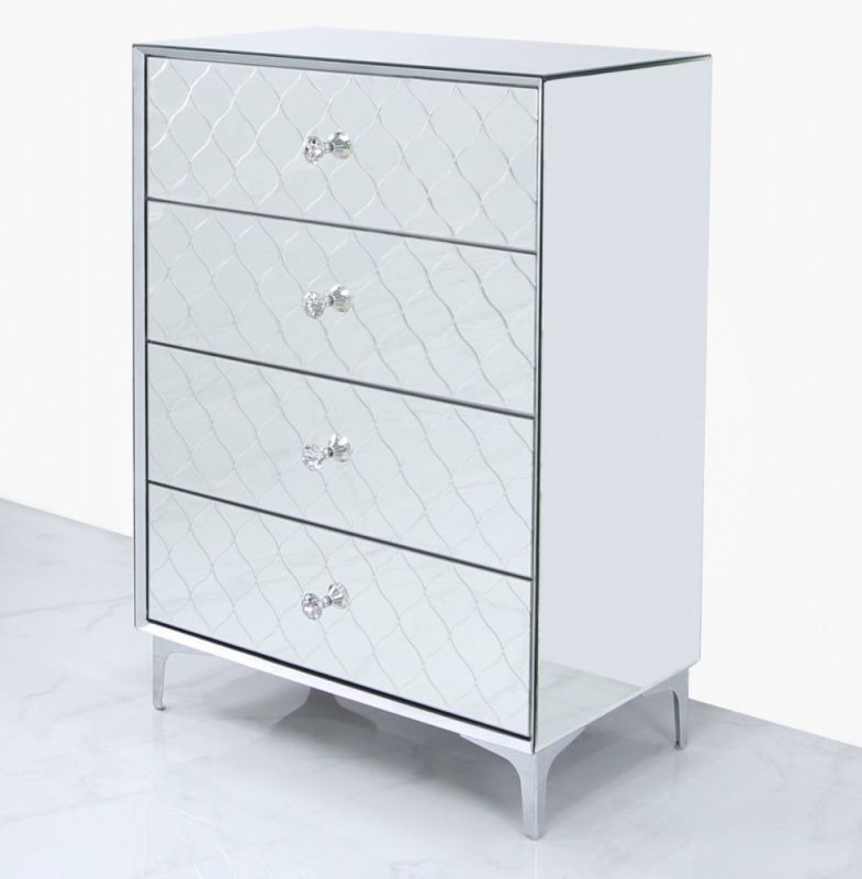 Colorado Mirrored 4 Drawer Chest