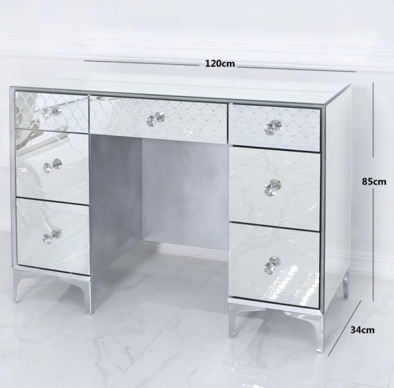 CIMC Colorado Mirrored 7 Drawer Dressing Table