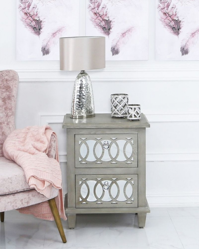Melville Mirrored Bedside Cabinet