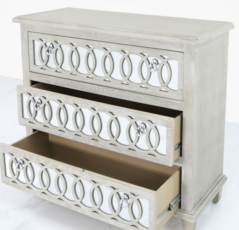 CIMC Melville Mirrored 3 Drawer Chest