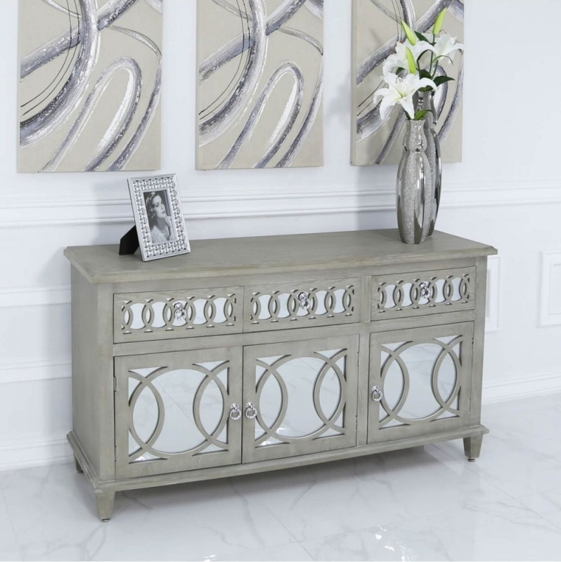 CIMC Melville Mirrored 3 Door 3 Drawer Sideboard
