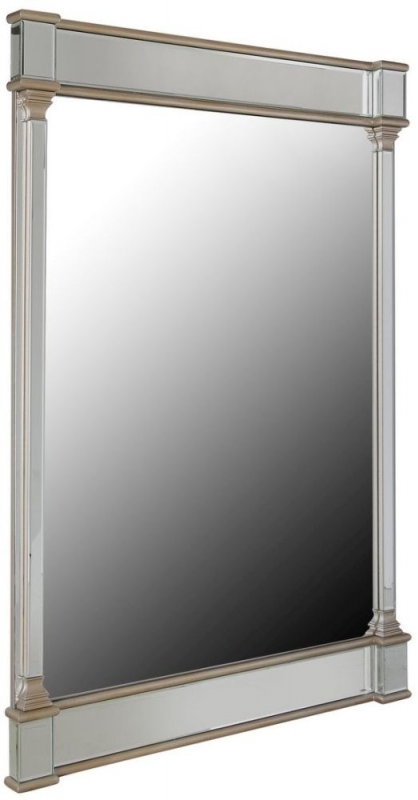 Killona Champagne Rectangular Wall Mirror - 80cm x 120cm