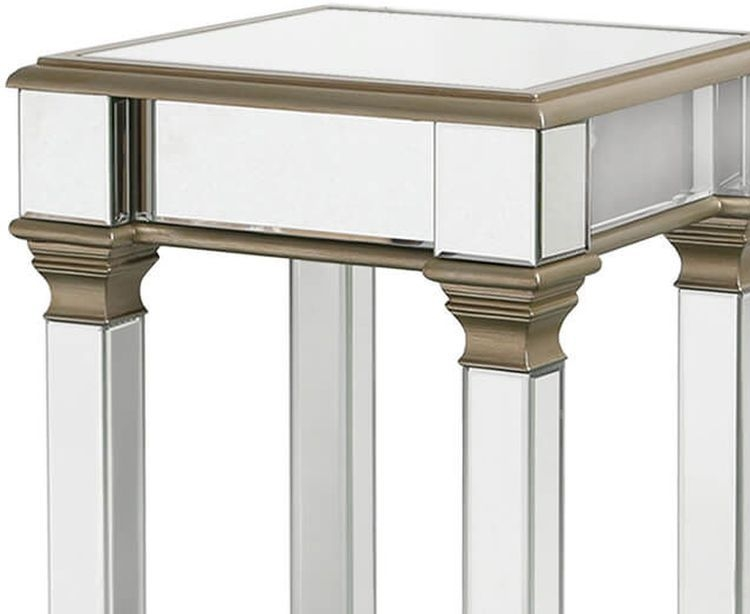 Killona Champagne Mirrored Large Telephone Table