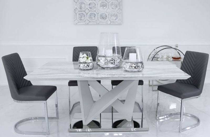 Paradis Marble 180cm Rectangular Dining Table