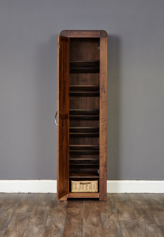 Baumhaus Shiro Walnut Shoe Cupboard - Tall