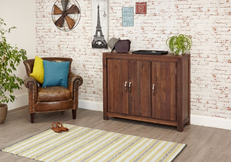 Baumhaus Mayan Walnut Large Shoe Cupboard