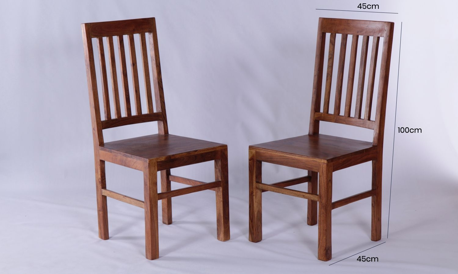 4 x Java Acacia Slatted Dining Chair