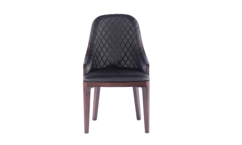 8 x Urban Deco Madrid Black Faux Leather Dining Chair