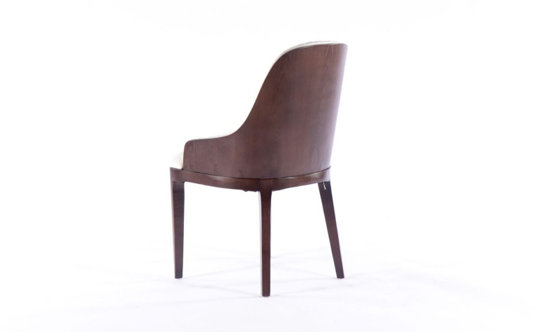 8 x Urban Deco Madrid Beige Faux Leather Dining Chair