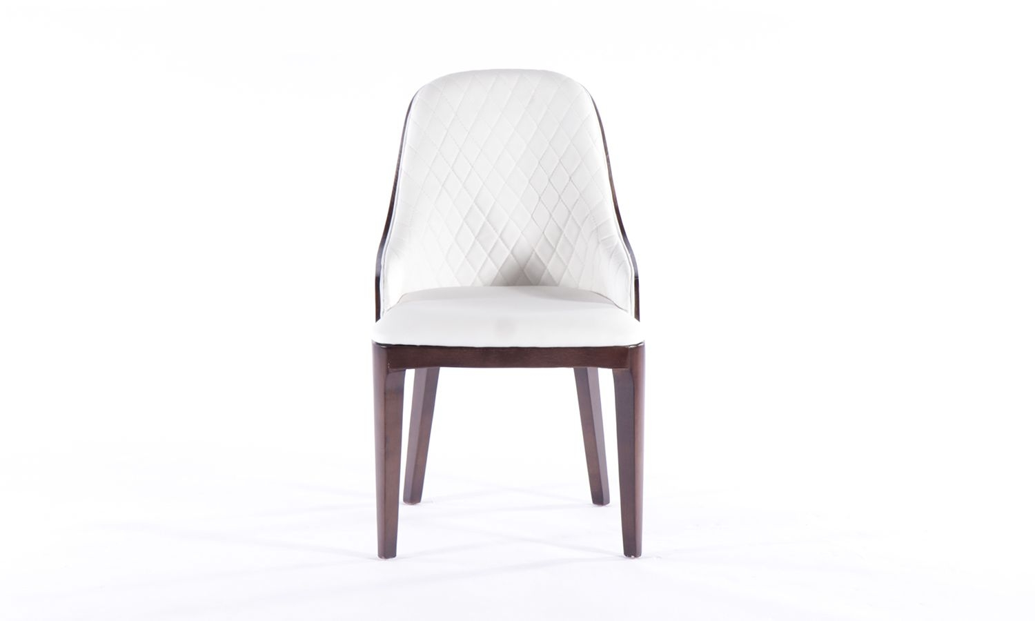 8 x Urban Deco Madrid White Faux Leather Dining Chair