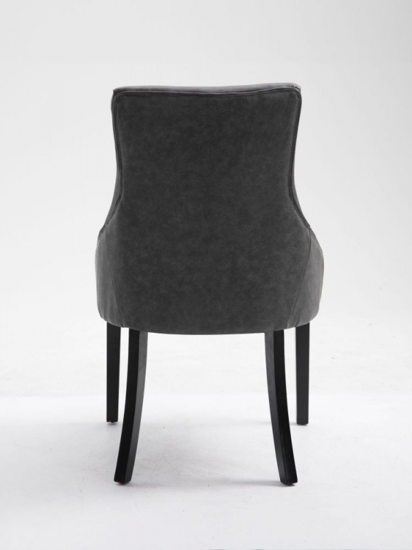 8 x Loire Grey Faux Leather Dining Chair