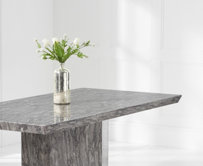 Mark Harris Como Grey Engineered Marble Dining Table