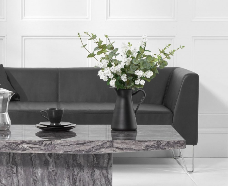 Mark Harris Coruna Grey Marble Coffee Table