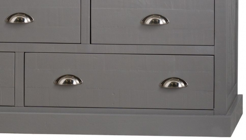 Hill Interiors Byland Grey 9 Drawer Chest