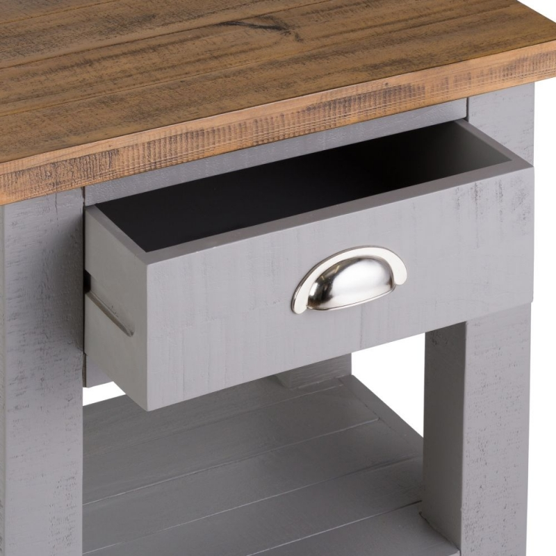 Hill Interiors Byland Grey Side Table
