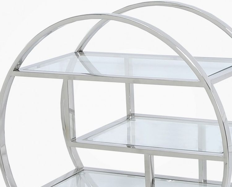 Prong Shelving Unit - Glass and Chrome