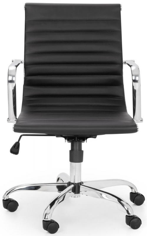 Julian Bowen Gio Office Chair - Black and Chrome