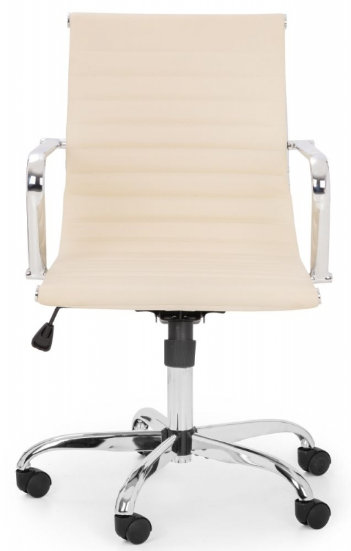 Julian Bowen Gio Office Chair - Ivory and Chrome