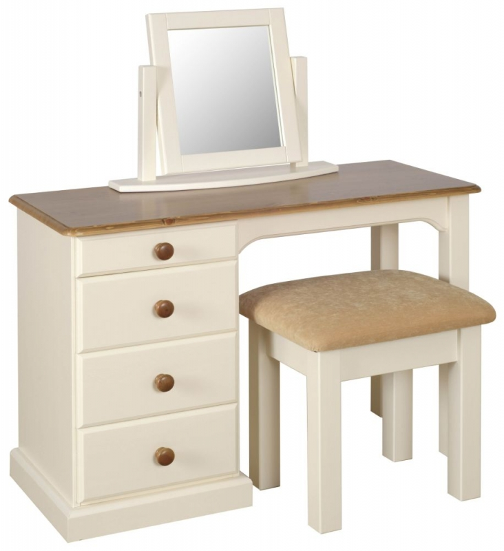 Devonshire Torridge Ivory Painted Single Pedestal Dressing Table