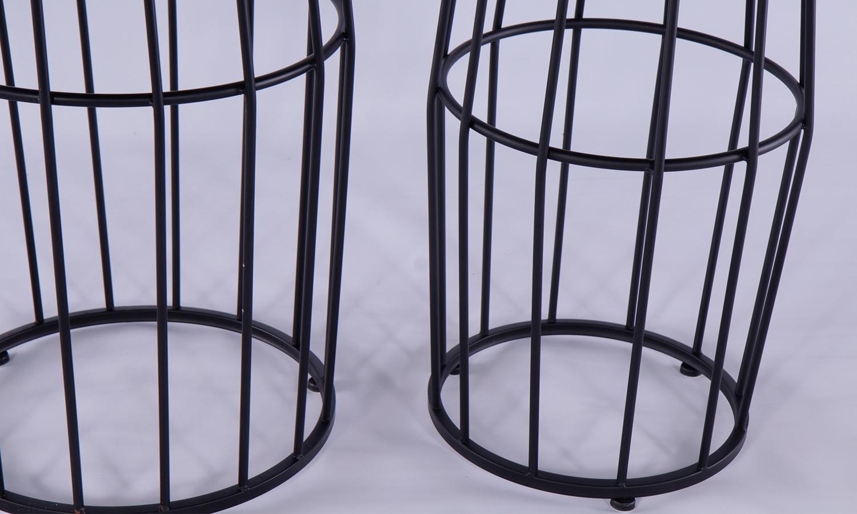 Urban Deco Metal Round Nest of 2 Drum Tables