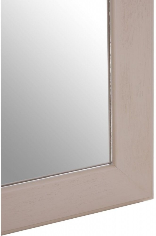 Heritage Vintage Grey Rectangular Wall Mirror - 60cm x 90cm